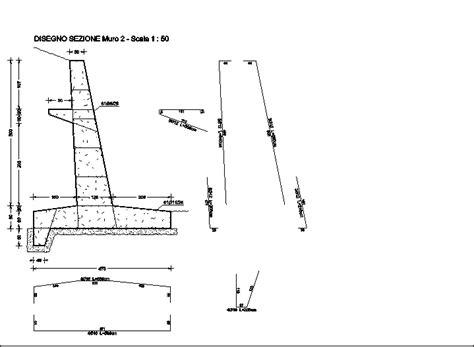 muro di sostegno a mensola software progettazione e disegno armature muri di sostegno