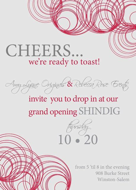 Grand Opening Invitations Grand Opening Invitation Template Free