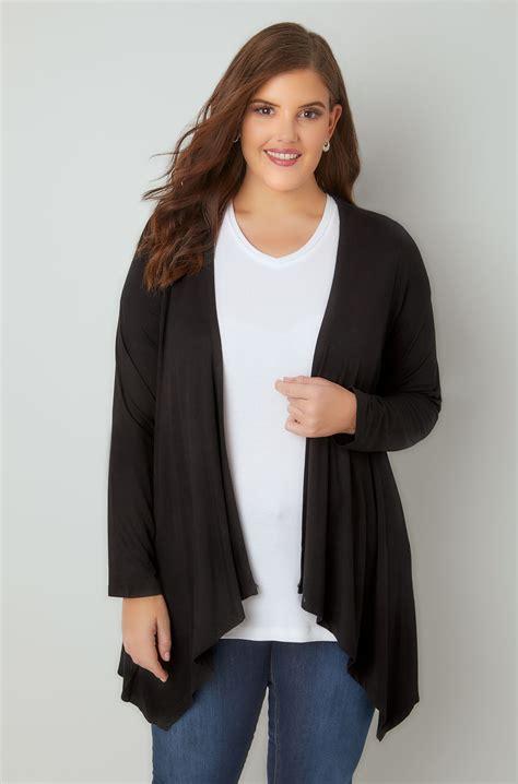 Preloved Noir Sur Blanc Cardigan cardigan jersey chute d eau noir taille 44 224 64