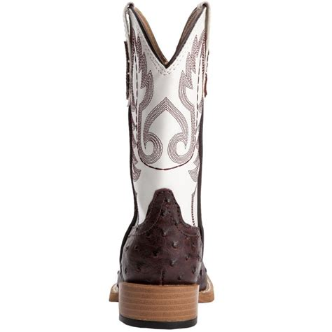 shop kid s roper brown and white ostrich cowboy boots