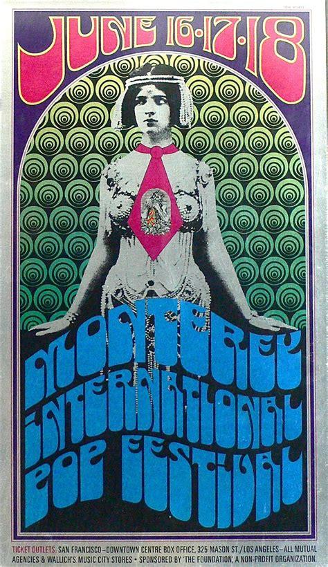 monterey pop festival original concert poster jimi hendrix grateful dead