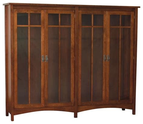 bookcase armoire 4 door arts crafts bookcase traditional bookcases detroit by amish direct