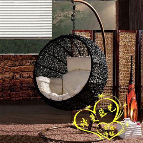 swinging chairs indoor modern rattan swing hammock lounged hanging basket cradle chair