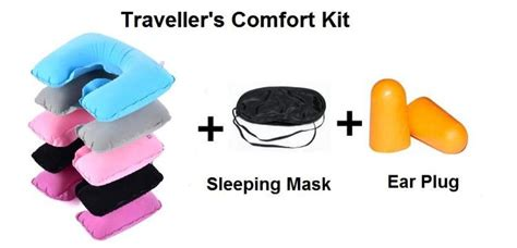 air travel comfort items comfort travel kit