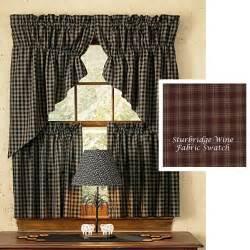 Primitive Kitchen Curtains Primitive Kitchen Curtains For A Rustic Look Kitchen Edit