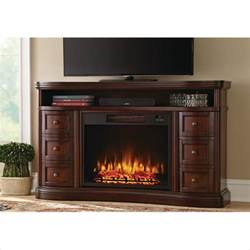 Brown Electric Fireplace by Home Decorators Collection Charleston 60 In Tv Stand