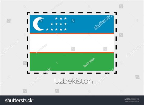 flag of uzbekistan stock image image of symbol places cutting outline around flag uzbekistan stock vector