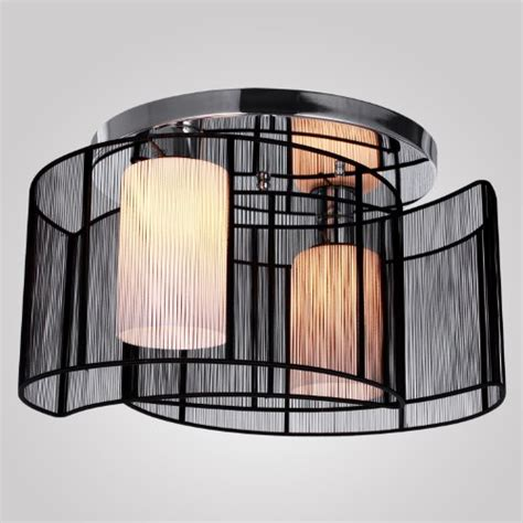 lightinthebox black semi flush mount with 2 lights mini