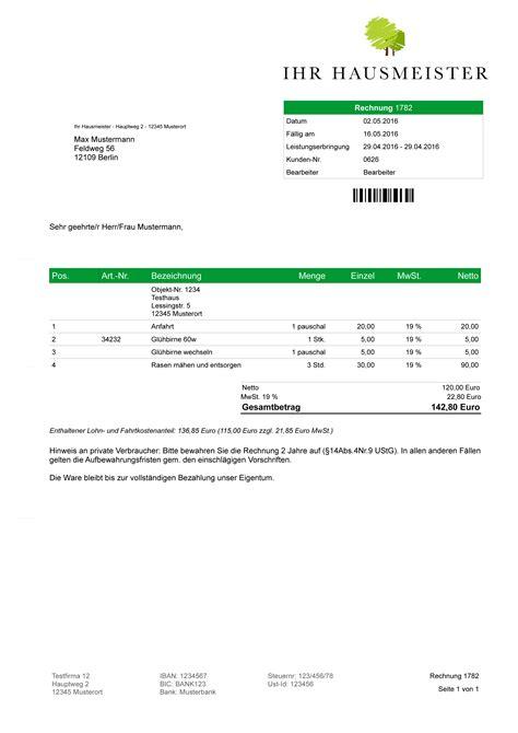 Muster Rechnung Hausmeister Hausmeister Faktura Software Rechnungsprogramm Angebot Rechnung Objektverwaltung Ebay