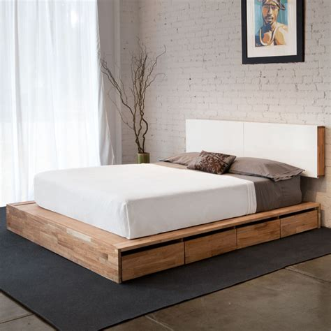 Lax Series Storage Platform Bed And Headboard