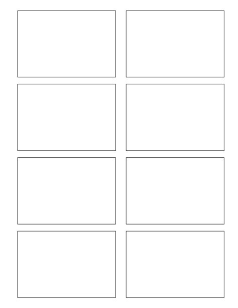 blank standard card template blank comic cells