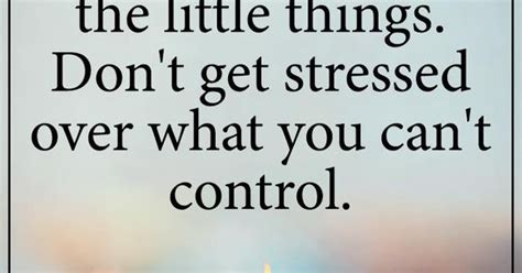 Don T Get Stressed Over What You Can T Control - take life day by day and be grateful for the little things