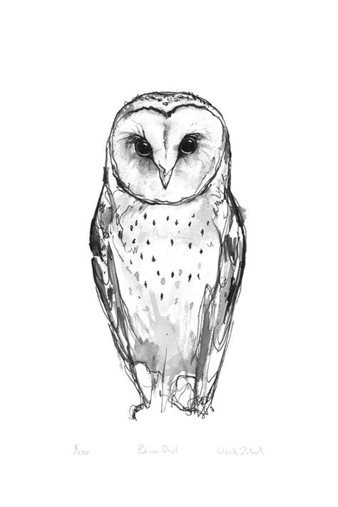 barn owl tattoo designs stencil barn owl golfian