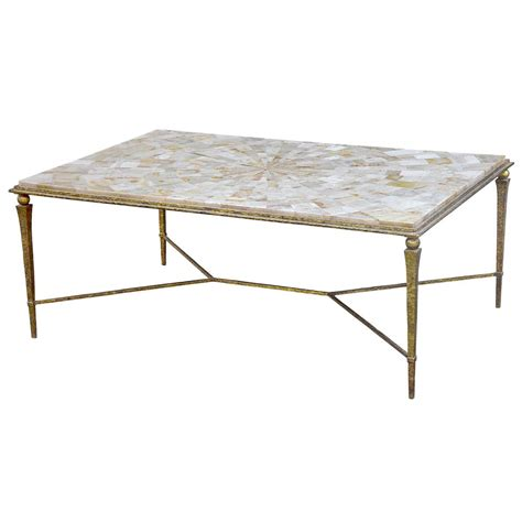 yves oly shell antique gold coffee table kathy kuo home