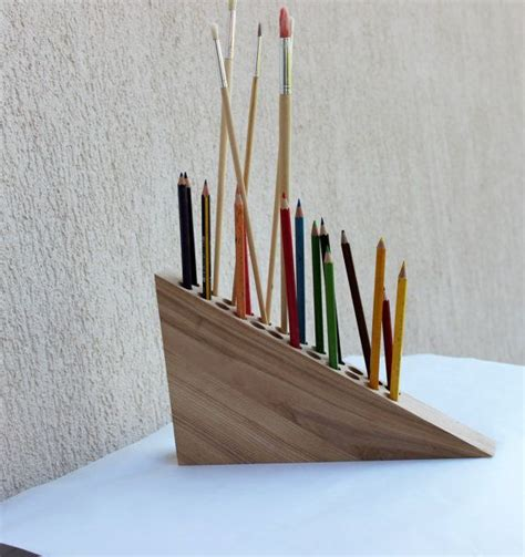 pencil holder pen holder wooden desk organizer office