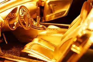 Solid Gold Bugatti Veyron Model Cars Solid Gold Car Bugatti The Golden Hour By
