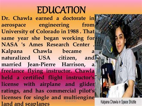 kalpana chawla biography in english in short image gallery kalpana chawla education