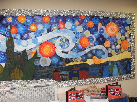 art display ideas art in the classroom ideas van gogh starry night display