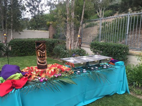 luau backyard party backyard luau in newport beach at your service catering