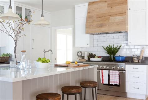 white and wood kitchen cabinets neutral modern farmhouse kitchen bathroom home bunch