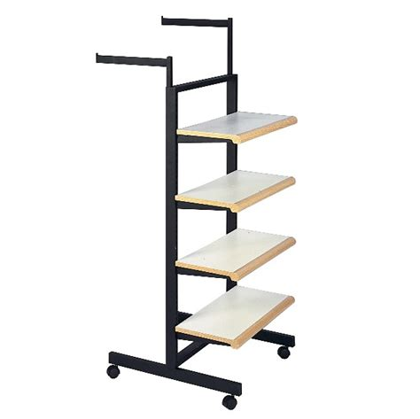 Clothing Display Rack With Shelves Subastral Clothing Rack With Shelves