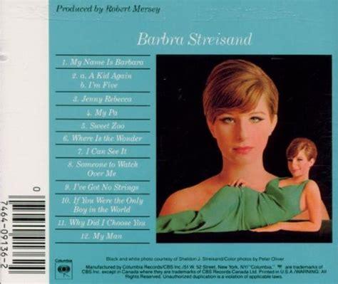 barbra streisand zoo song barbra streisand album 171 my name is barbra 187