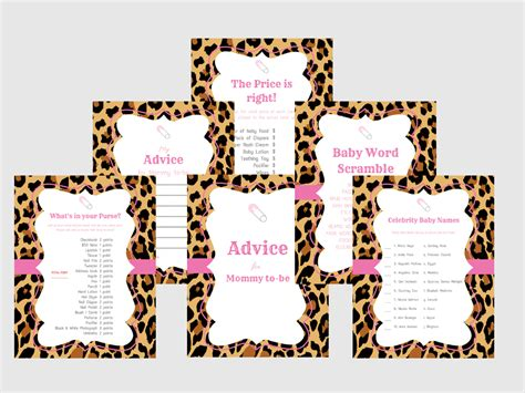 Pink Leopard Baby Shower Theme by Pink Leopard Baby Shower Baby Shower Ideas