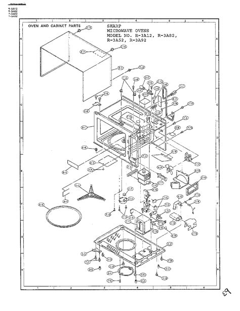 sharp microwave parts diagram sharp microwave ovens page 2 diagram parts list for