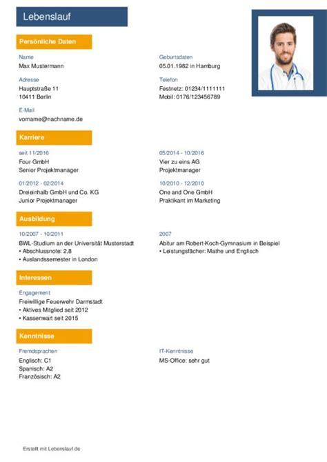 Lebenslauf Vorlage Tabellenform Lebenslauf Vorlagen Muster Kostenloser Als Pdf
