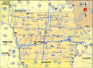 iowa map listings united states