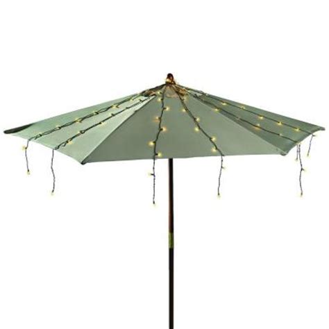 Umbrella String Lights 150 Count Kf01006 The Home Depot Umbrella Light String