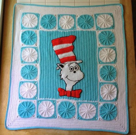pattern for cat afghan cat in the hat crocheted blanket crochet afghans