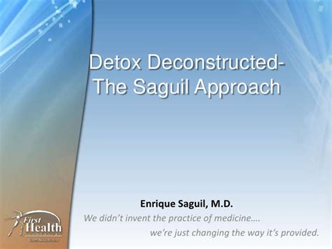 Detox Net Survey by Drric Detox Deconstructed Slide Edition