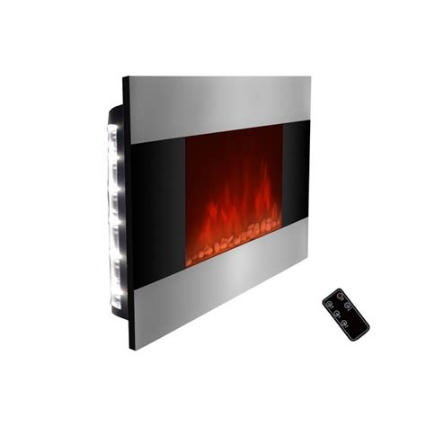 modern electric fireplace built in wall indoor heater