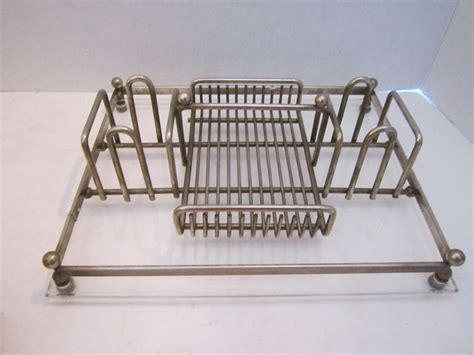 Vtg Oneida Buffet Caddy Silverplate Acrylic Silverware Buffet Caddy Plate Flatware Organizer