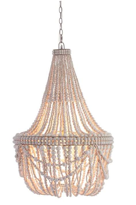 whitewashed chandelier white wash beaded chandelier socalcontemporary