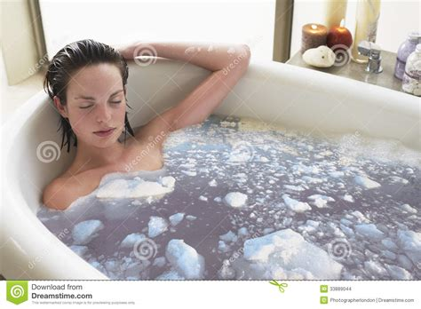 relaxing bathtub woman relaxing in bathtub stock images image 33889044