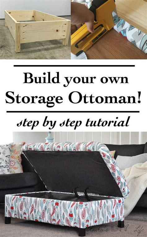 diy upholstered storage ottoman how to build an ottoman