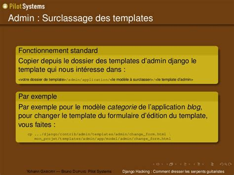 django template comment django hacking comment dresser les serpents guitaristes