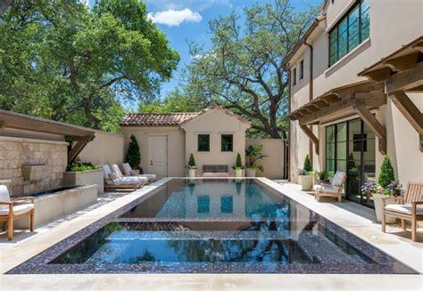 mediterranean pool private residence dallas modern mediterranean