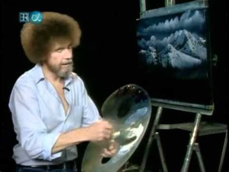 bob ross paintings on display of painting