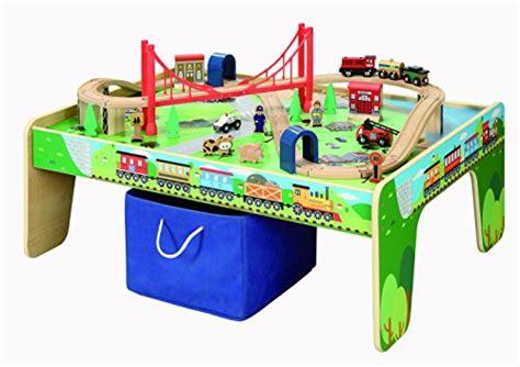brio activity table 50 piece train set with train play table brio and
