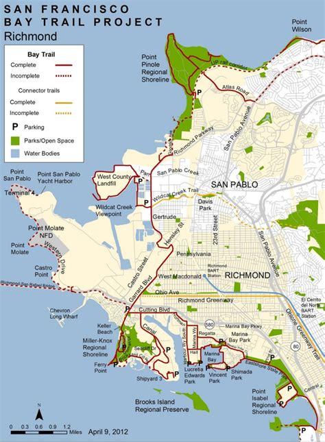 san francisco kaiser map san francisco bay trail turns walking bicycling into