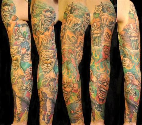 tattoo arm metal vir 225 g k 225 roly 171 tattoo art project eddie iron maiden