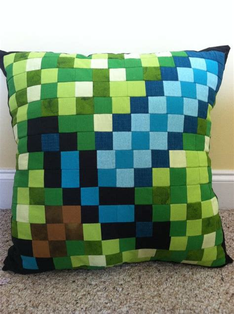 minecraft inspired sword throw pillow
