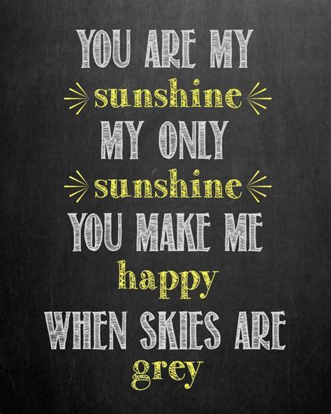 you are my sunshine printable lyrics artwork chalkboard chalkboard you are my sunshine my only sunshine nursery