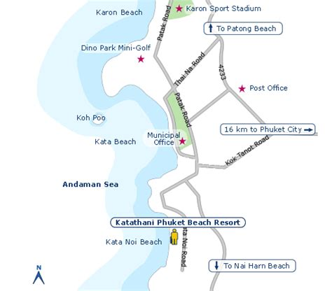 katathani resort map katathani phuket resort