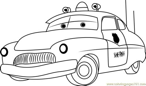 sheriff cars coloring pages sheriff coloring page free cars coloring pages