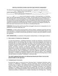 Non Circumvention Agreement Template non circumvention agreement template 8 non disclosure and