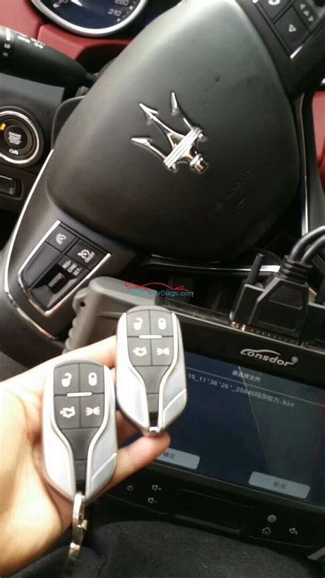 maserati ghibli key method to add smart key on maserati ghibli 2017 by lonsdor